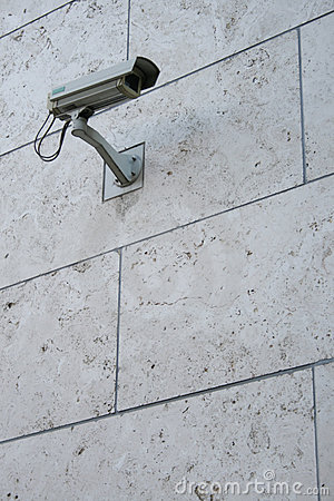 Surveillance camera in waterproof housing