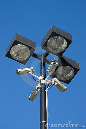 Free Surveillance Cameras Royalty Free Stock Photography - 7897187