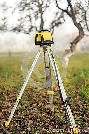 Surveying Measuring Equipment Level Theodolite On Tripod