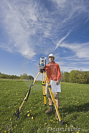 Surveying with theodolite