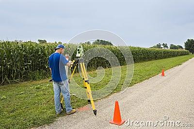 Surveying the village