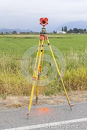 Surveyors Prism on Tripod