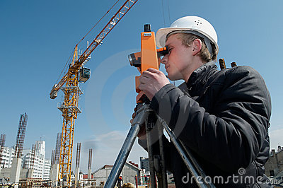 Surveyor with transit level