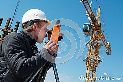 Surveyor with transit level