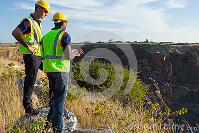 Surveyors mining site