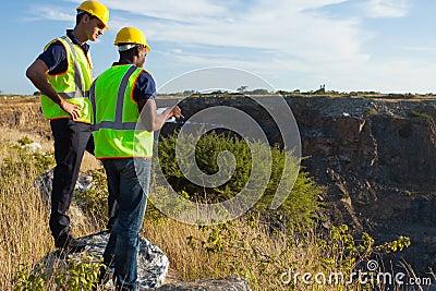 Surveyors mining site