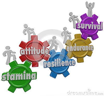 Free Survival Endurance Attitude Stamina Resilience People Enduring D Stock Photography - 38146792