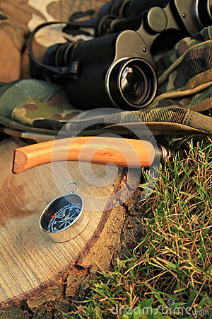 Survival tools in outdoor camp