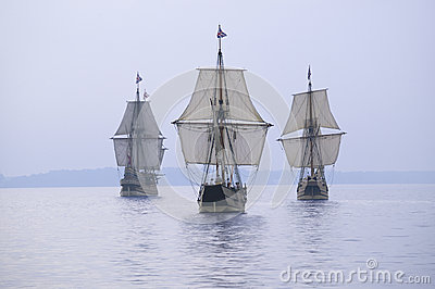The Susan Constant, Godspeed and Discovery, Editorial Photo