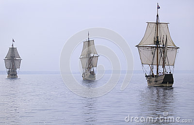 The Susan Constant, Godspeed and Discovery, Editorial Stock Image