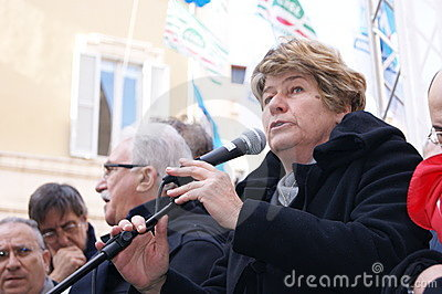 Susanna Camusso, italian CGIL union leader Editorial Stock Photo