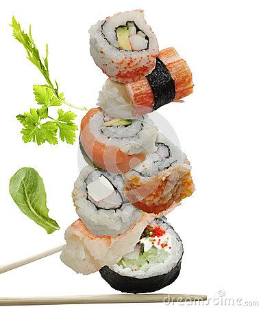 Free Sushi Assortment Royalty Free Stock Photography - 36755777