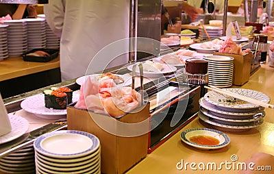 In a sushi bar