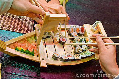 Sushi boat hands