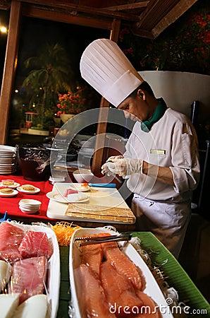 Sushi at buffet