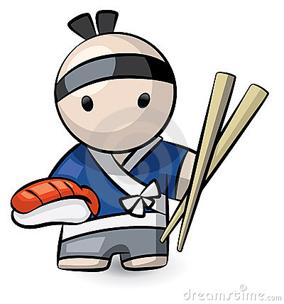 Sushi chef character