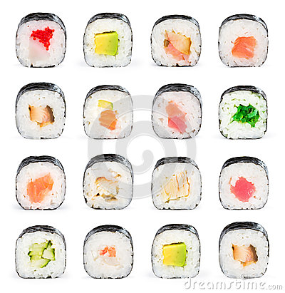 Free Sushi Collage Royalty Free Stock Images - 46284079