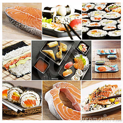 Free Sushi Collage Royalty Free Stock Photos - 9806438