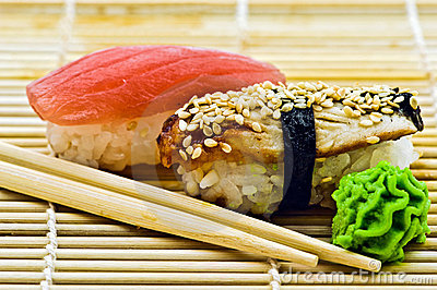 Sushi Eel and Tuna