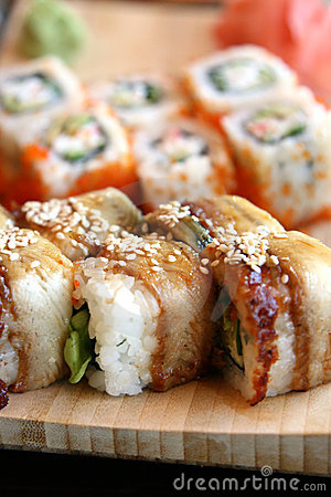 Free Sushi End Rolls Stock Photography - 3301672