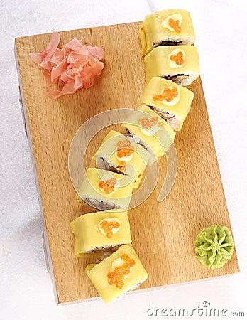 Sushi hotate Avocado Maki