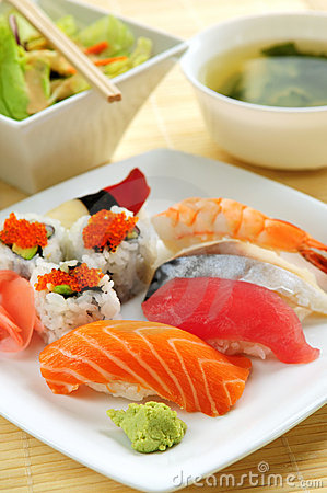 Free Sushi Lunch Stock Photography - 5223342