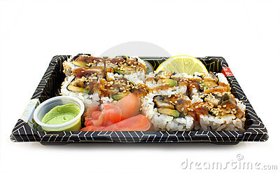 Sushi lunch in a box