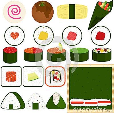 Free Sushi Maki (Rolled Sushi) Stock Photo - 27419960