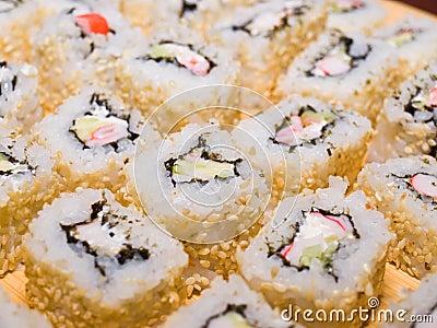 Sushi-maki or sushi rolls