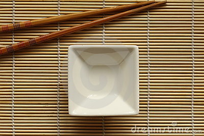 Sushi mat with dip