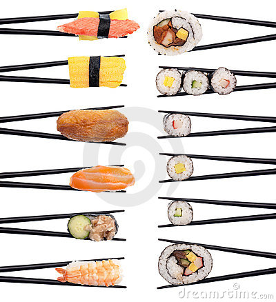 Free Sushi On The Menu Royalty Free Stock Photography - 21682697