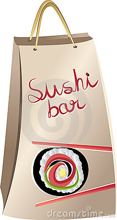 Sushi package Vector Illustration