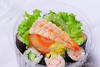 Sushi in picnic pack
