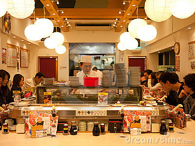 Sushi restaurant in Tokyo Editorial Photo