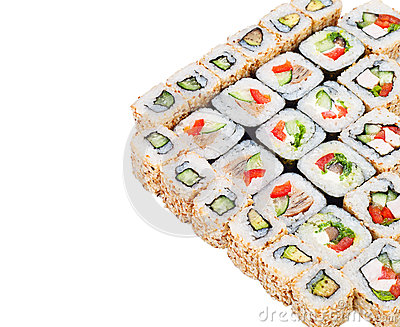 Sushi roll big set with different components