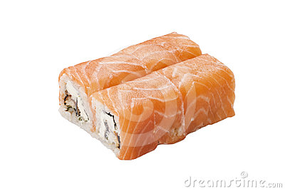 Sushi roll in salmon