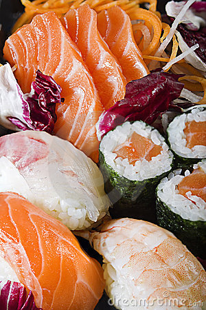Sushi Sashimi and Maki