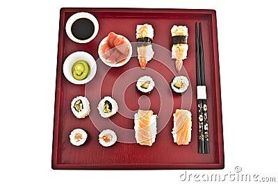 Sushi,sashimi,Maki Japanese cuisine.