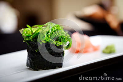 Sushi with seaweed