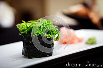 Sushi with seaweed