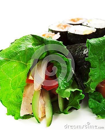 Free Sushi Set Royalty Free Stock Images - 12135209