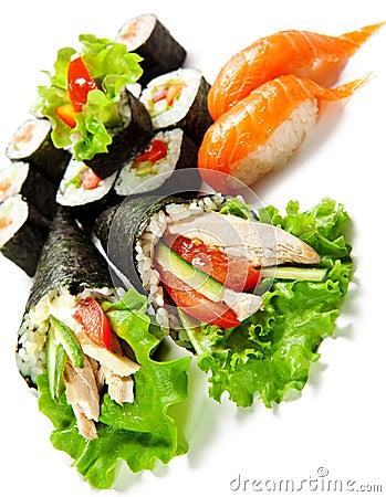 Free Sushi Set Royalty Free Stock Images - 13919629