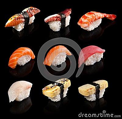 Free Sushi Set Stock Photography - 45718592