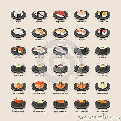 Free Sushi Set Royalty Free Stock Images - 54421859