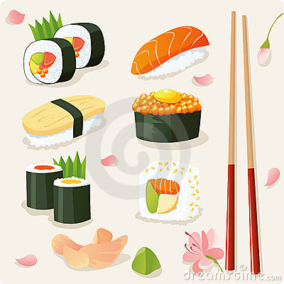 Free Sushi Set Stock Images - 8844434