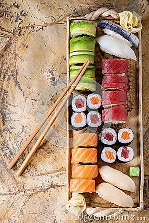 Free Sushi Set Nigiri And Rolls Royalty Free Stock Photo - 67590615
