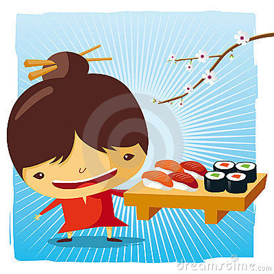 Free Sushi Time Royalty Free Stock Photos - 19582478