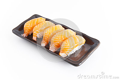 Sushi with white background