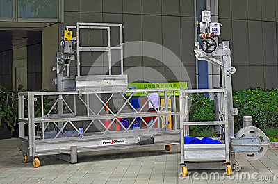 Suspended access equipment Editorial Stock Image