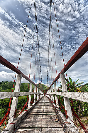 Suspended bridge
